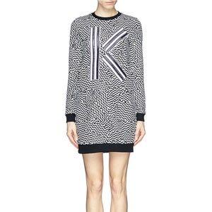 EUC KENZO Broken floor sweatshirt dress S